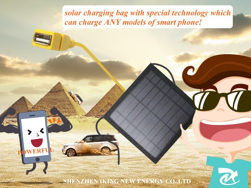 3W 9V New Portable Solar Mobile Phone Charger Case