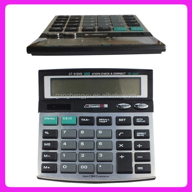Hot sale double power desktop calculator CT-512VII