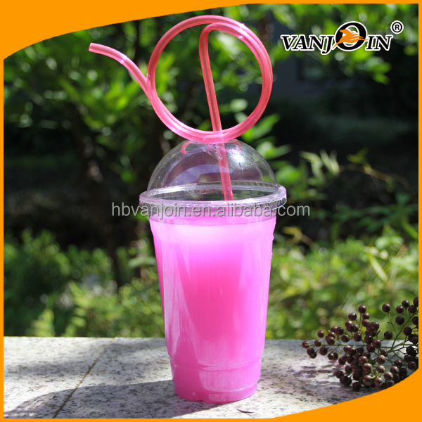 100-800mlPlastic Material and Cup Type custom disposable PP cup with lid
