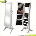 Handmade wooden mirror jewelry armoire GLD13350 from goodlife