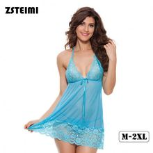 In Stock Wholesale European Style Women Halter Sheer Chemise Asian Babydoll Sexy Adult Lingerie