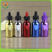 Colorful 30ml glass dropper bottle 1oz cosmetic serum pink dropper bottle