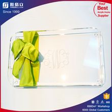 2016 China manufacturer custom made clear acrylic serving tray & square acrylic tray / clear acrylic tray