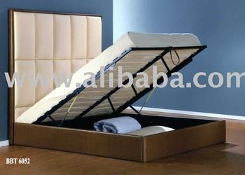PU Leather storage bed