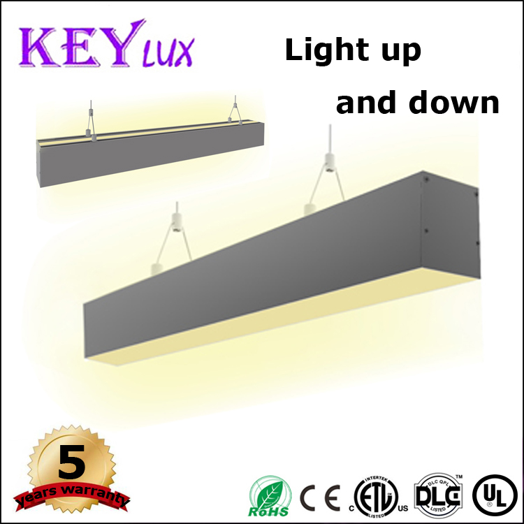 Suspended led linear lighting up and down emiting,dimmable led linear light, 1200mm(4ft), 40W 60W
