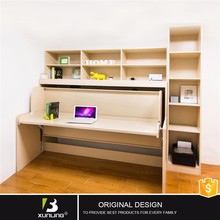 Modern Hidden Melamine Vertical Wall Bed With Study Table