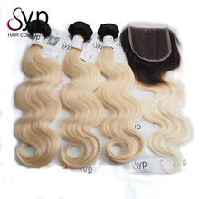 Ombre Deep Wave Dark Root Blonde Korean Weave Isis Hair 3 Bundles Products With Skin Top Closure In Zambia