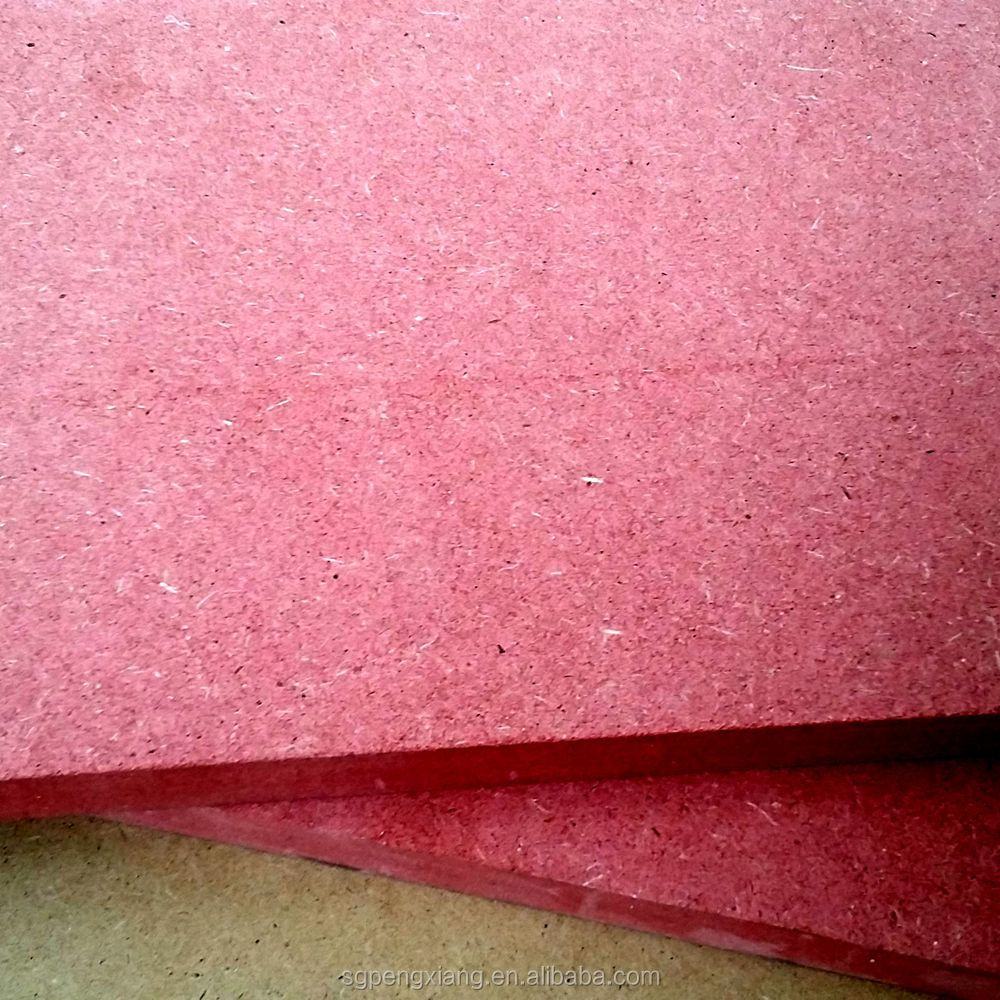 Fireproof Material Red Color Plain MDF