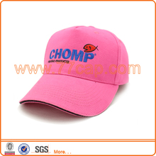 Custom design your own 5 panel hat cap, hot pink baseball cap