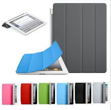 Sleeping Function Book Stand Magnetic Leather Back Case Smart Cover For iPad Mini 4