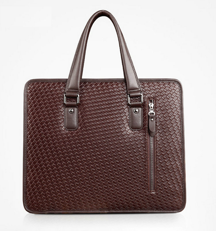 Factory Best Selling Fashion Design Man Genuine Leather Handbags