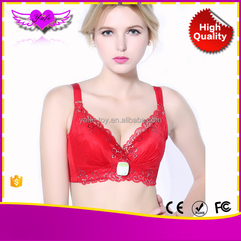 Electric Nipple Enhancement Breast nude sport bra anty massage bra for big breast