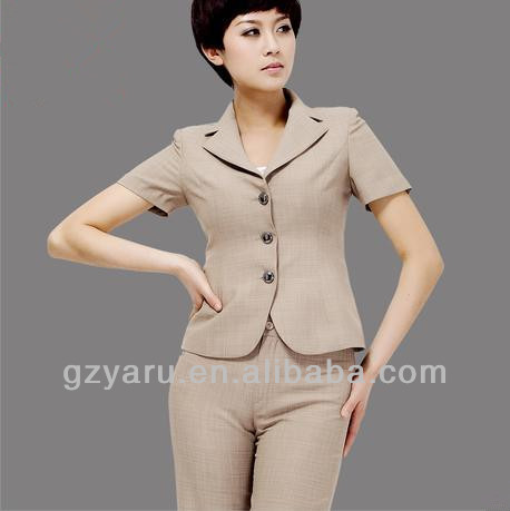 2013 Formal Women Linen Pants Suit