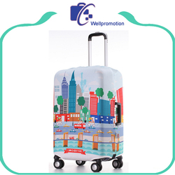 Wholesale colorful printing elastic spandex travel luggage cover