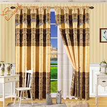 jacquard fabric window curtain the low price drapes windoe direction 100% polyester