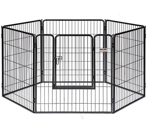 Competitive price hot sale log dog pens outdoor,expandable dog fence for large dogs