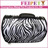 Fashion cute simple strip dog carrier travel bag