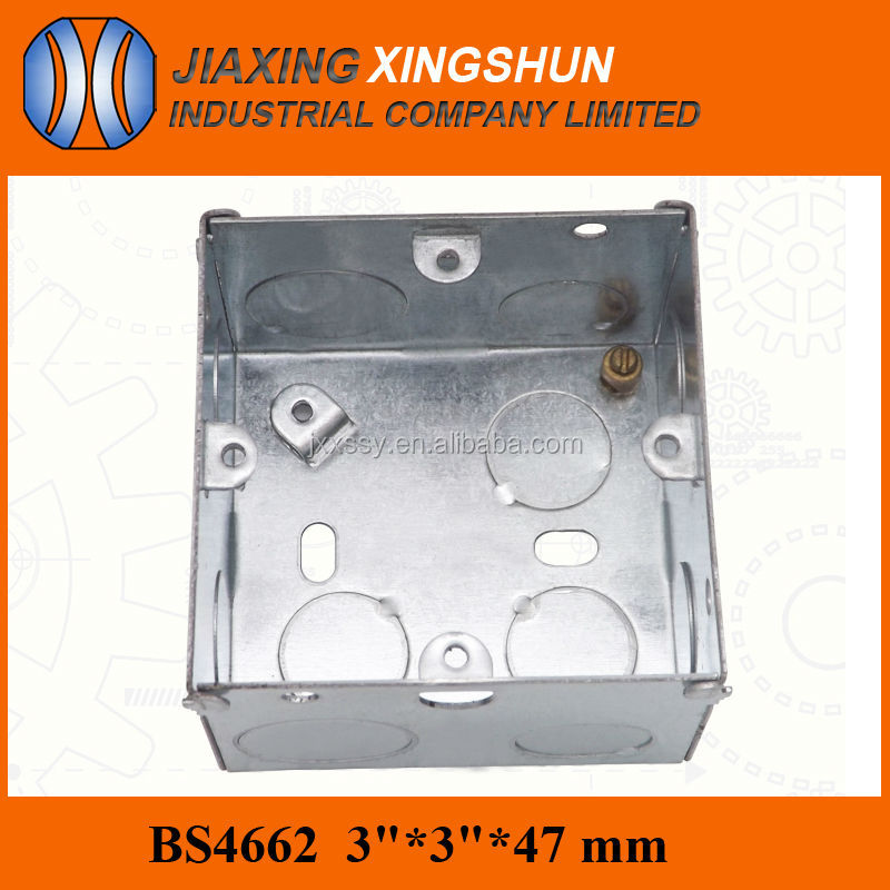 "Hot Selling Galvanized Steel Electrical 4"" Steel Octagon Outlet Box"