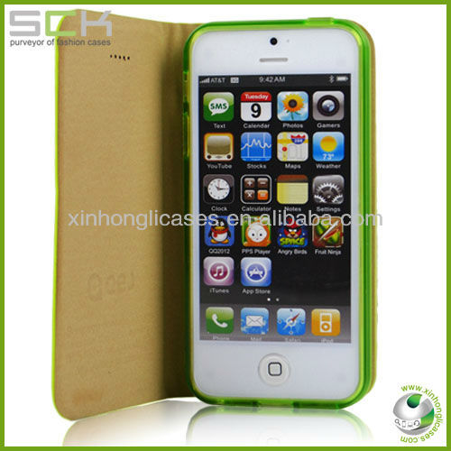 PU Leather Case for Iphone5/5s, high quality leather phone case