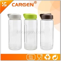 450ml portable plastic sport water bottle with carabiner