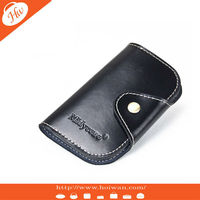 AP-130003 HOT SALE OEM BLACK Promotion leather with embossed logo key case hyundai remote key case mazda key case