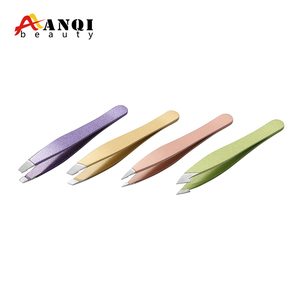 Alibaba Hot Sale Colorful Beauty Care Tools Stainless Steel Eyebrow Tweezers