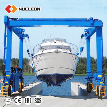 Nucleon Crane New Type Boat Price Yacht Lifting Gantry Crane Made In China mobile Boat Hoist