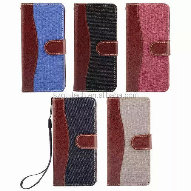 Blue Book Jeans Flip Cloth Skin Leather Case For iPhone 6s/6 Fashion Hit Color Full Protective Accessories Cover