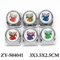 hot selling heavy duty cute deer design round metal glass money clip