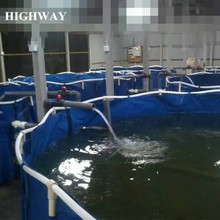 Collapsible PVC tarpaulin flexible ras aquaculture fish farm tanks