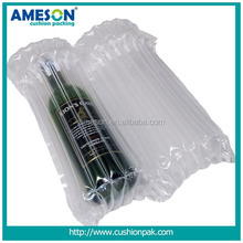 China Alibaba double wine bottle air bag with handle