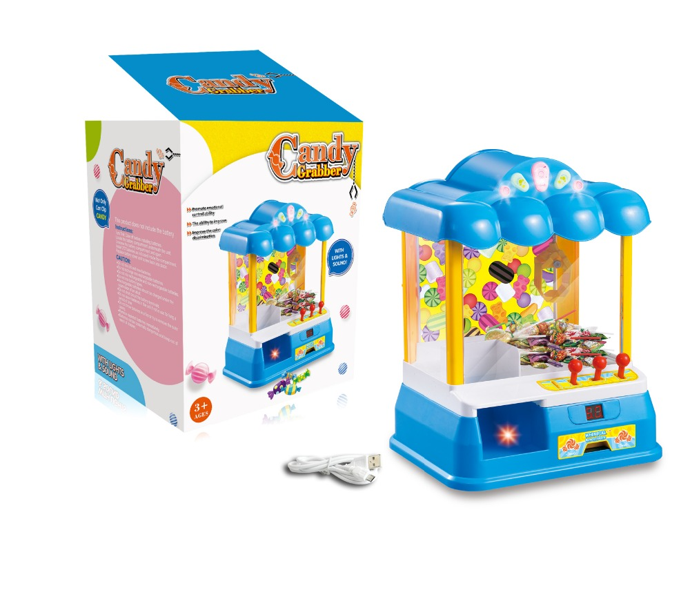 Newest BO,USB mini candy grabber machine <strong>toy</strong> with light and sound