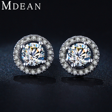 MSE032 New White Gold Plated Stud Earring women Wedding Earrings Fashion classic romantic Jewelry Engagement Earrings for Women