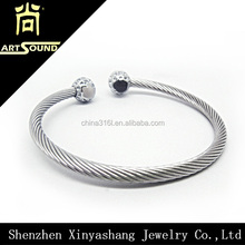 2016 wholesale mens jewelry stainless steel bangle