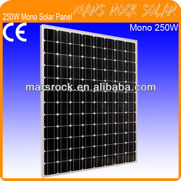 250W 48V Mono Crystalline Silicon Solar PV Panel Module with 96 Cells in Series
