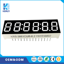 3661bs free sample FND customized 0.36 inch 6 digit led 7 segment display for home appliance