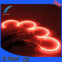 B-DEALS car accessories E36 E38 E39 E46 projector ccfl angel eyes,super power red ccfl angel eyes ring light for bmw