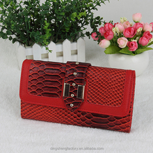 Some Like It Hot red genuine leather extremely beautiful and high class wallet for women