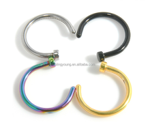 Wholesale simple fashion stainless steel indian jewelry fake nose ring for promotion