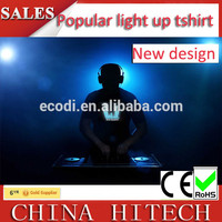 2016 el animated flashing t shirt/led t-shirt/led t-shirts