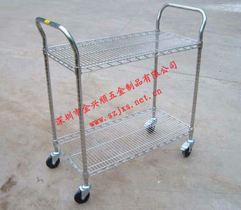 wire trolley,push carts,wire shelf for industry use