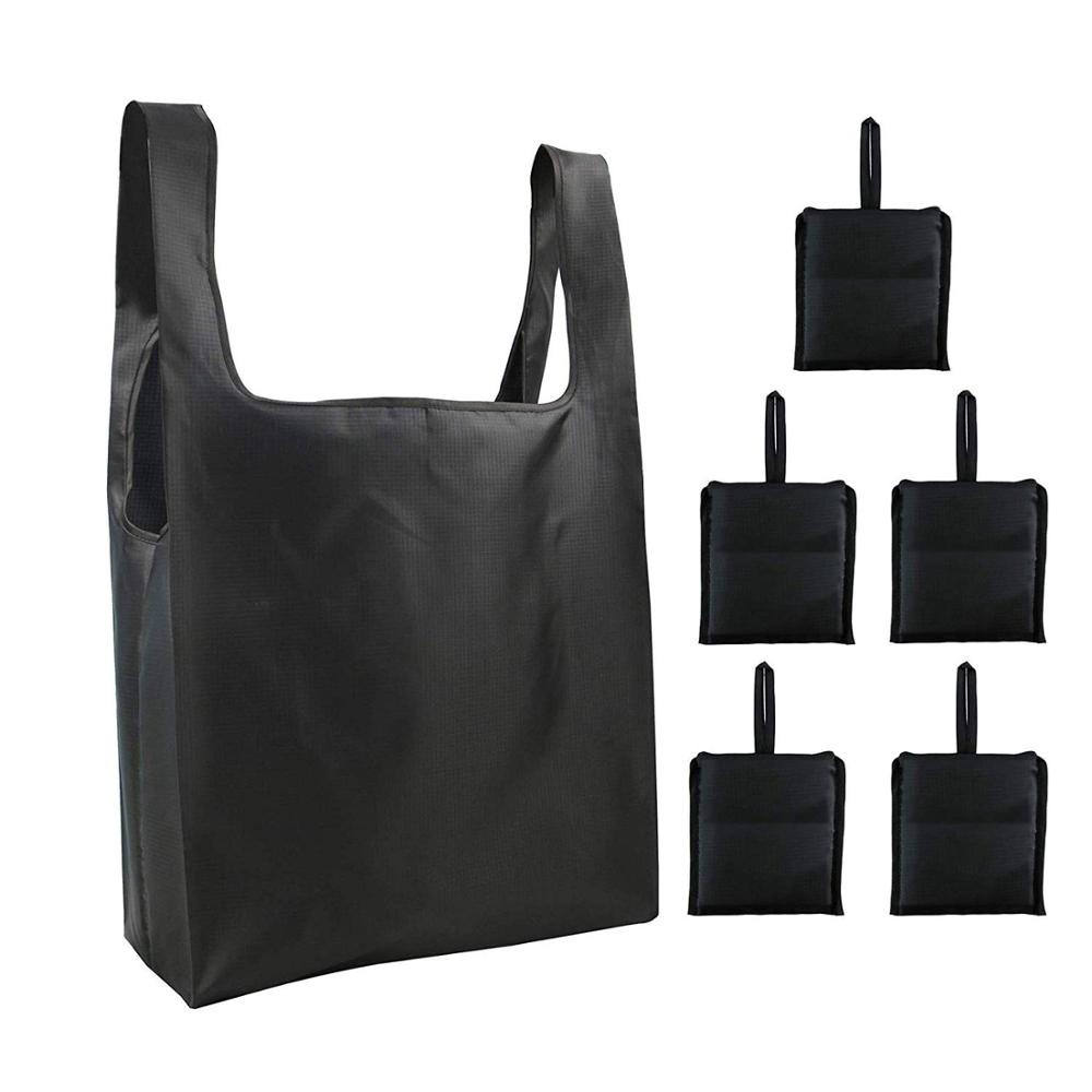 Reusable Grocery Bags Shopping Tote Eco Friendly Foldable Bag Ripstop Polyester Shopping Bags Machine Washable Durable