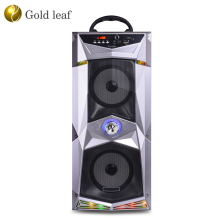 10W loud sound music molded speaker box 4 inch woofer ibastek portable outdoor wireless speaker with LED light