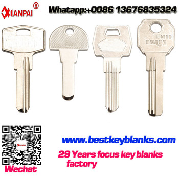 G-073 Painted Nickel Computer house key Blanks sales Manufacturers