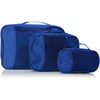 BSCI SEDEX Factory polyester packing cube blue travel accessories luggage bag