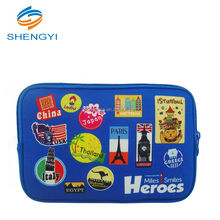 Wholesale price fancy cartoon style private lable neoprene cosmetic makeup laptop bag/bags with compartments