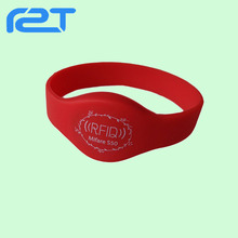 High Quality 13.56MHz nfc bracelet/ waterproof silicone rfid wristband