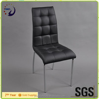 modern metal and leather dining chair for kithcen room designs