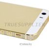24 carat gold plated side diamond for iPhone 5s price for iPhone 5 gold bezel white top and bottom