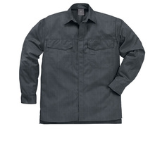 Hot sale 100% cotton twill fabric industrial working shirts with atistatic line